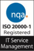 ISO IT Service Management registration logo